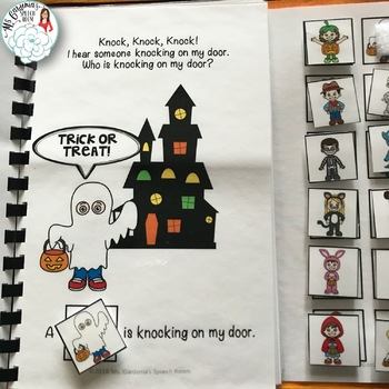 Who Questions: Interactive Book for Halloween