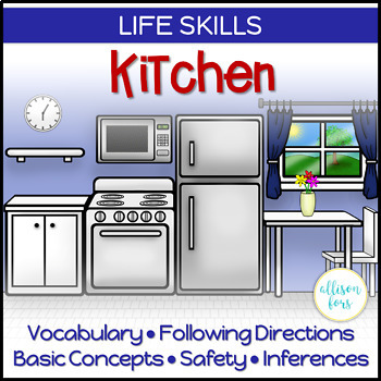 Kitchen Life Skills Interactive Book Speech Therapy