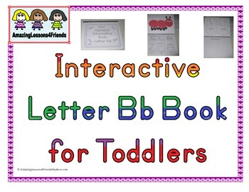 Interactive Book Letter Bb