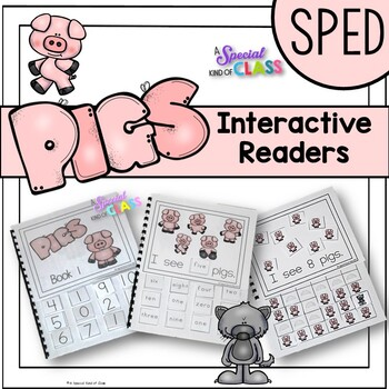 Adapted Books for Special Education Pigs