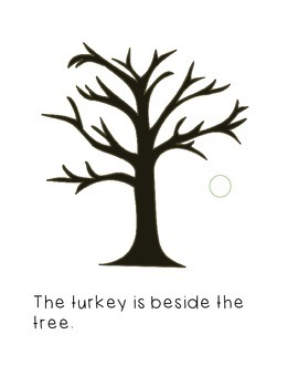 Interactive Book: Position Words--Thanksgiving