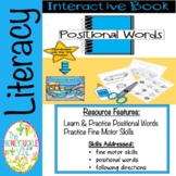 Interactive Book Positional Words Tide Pools