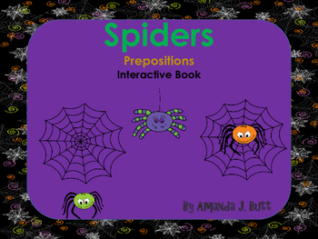 Interactive Book: Prepositions; Where is the Spider? Special Education; Autism;