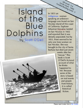 Island of the Blue Dolphins - Interactive Book Project