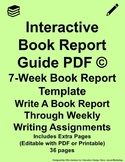 Interactive Book Report Guide PDF Green