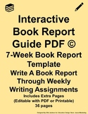 Interactive Book Report Guide PDF Orange