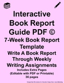 Interactive Book Report Guide PDF Pink