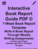 Interactive Book Report Guide PDF Purple