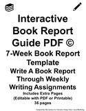 Interactive Book Report Guide PDF White
