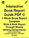 Interactive Book Report Guide PDF Yellow