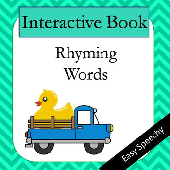 Interactive Book - Rhyming