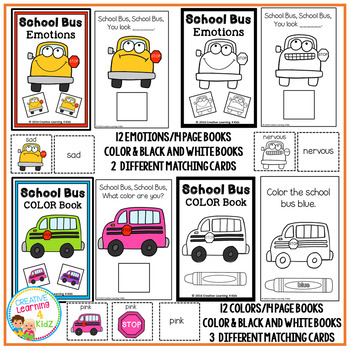 Interactive Books School Bus Bundle Colors Emotions Counting Shapes