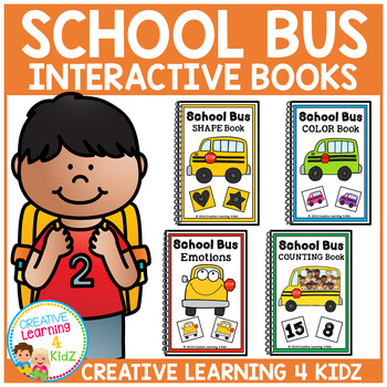 Interactive Books School Bus Bundle Colors Emotions Counti