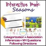 Seasons Interactive Book Speech Therapy