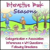 Seasons Interactive Book Speech Therapy