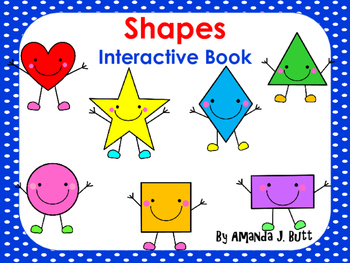 Interactive Book:  Shapes; Preschool; Special Education; Autism; Speech Therapy