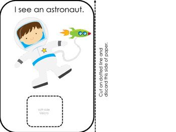 Interactive Book:  Space; Preschool; Special Education; Autism;