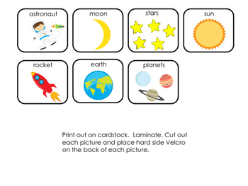 Interactive Book:  Space; Preschool; Special Education; Autism;