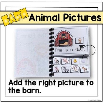 Adapted Books for Special Education Farm