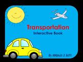 Interactive Book: Transportation; Special Education; Autism; Speech; Preschool