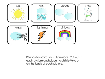Interactive Book: Weather; Special Education; Autism; Speech Therapy; Preschool;