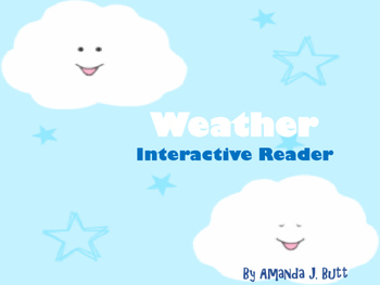 Interactive Book: Weather; Special Education; Autism; Spee