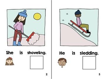 Interactive Book:  Winter Actions