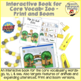 Interactive Book for Core Vocab: Zoo - Print and Boom