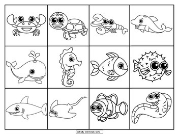 Interactive Book for Early Language Skills - Ocean