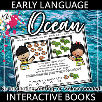 Preschool Language Therapy Interactive Book (Targets 15 Early Language Skills!)