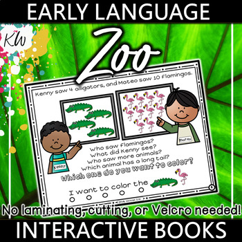 Speech Therapy Preschool Interactive Book (Targets 15 Early Language Skills!)