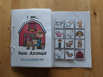 Interactive Book for 'I see' comments - I see Farm Animals
