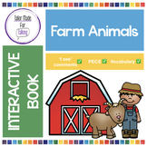 Interactive Book for 'I see' PECS comments - Farm Animals