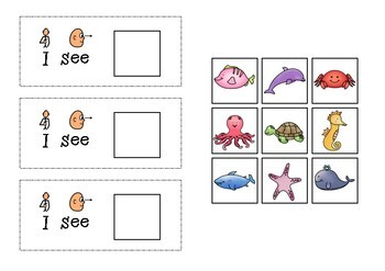 Interactive Book for 'I see' comments - I see Zoo Animals