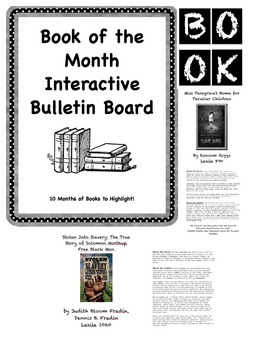 Interactive Book of the Month Bulletin Board