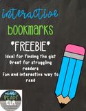 Interactive Bookmarks Freebie