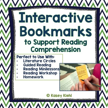 Interactive Bookmarks to Support Reading Comprehension {CCSS Aligned}