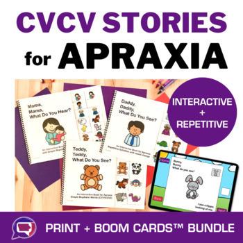 Interactive Books & Activities for Apraxia BUNDLE - CVCV, CV1CV2, C1V1C2V2
