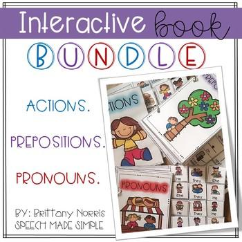 Interactive Books Bundle: Actions, Pronouns, Prepositions
