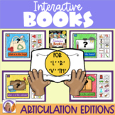 Interactive Books- Articulation- l, r, v & th for speech and language therapy