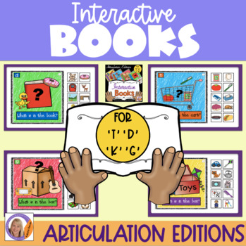 Interactive Books- For articulation- k, g, t, & d
