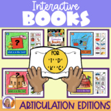 Interactive Books- Articulation- k, g, t, & d for speech and language therapy