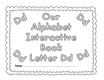Interactive Books Letter Dd