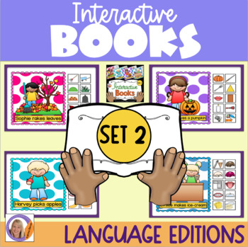 Interactive Books Set 2: with sequencing, basic directions and building language