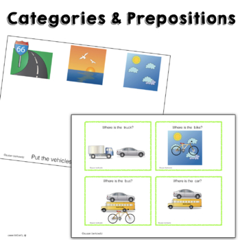 Transportation Interactive Books and Activities Special Ed and Early Education