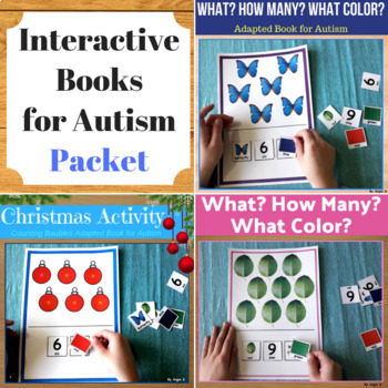 Interactive Books for Autism - What? How Many? What Color?