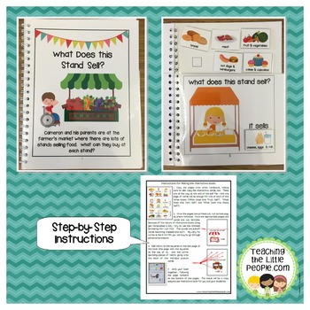 Interactive Books for Matching and Categorizing Skills:  Food Themes