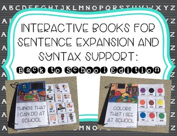 Interactive Books for Sentence Expansion and Syntax: Back to School Edition