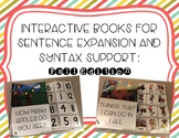 Interactive Books for Sentence Expansion and Syntax: Fall