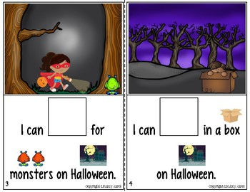 Interactive Books for Sentence Expansion and Syntax: Halloween